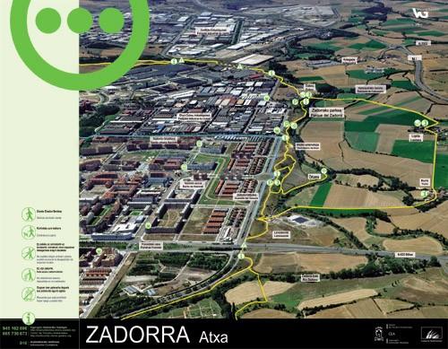 Zadorrako parkearen informazio panela - Atxa3