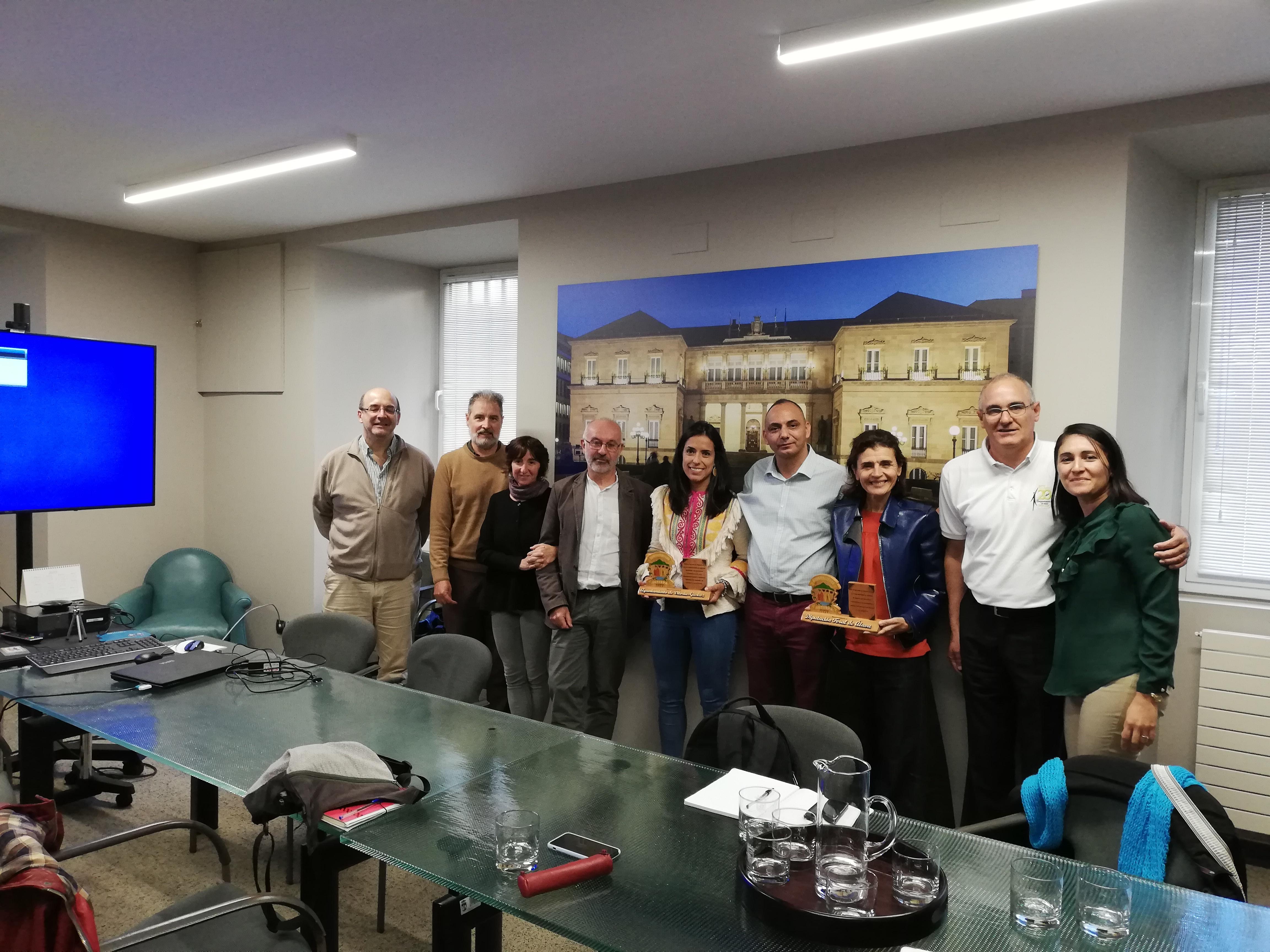Reunión con el alcalde de Jutiapa