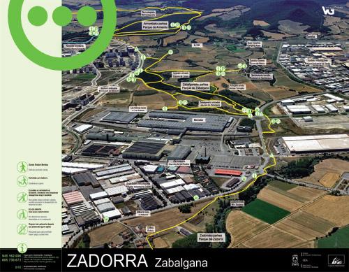 Zadorrako parkearen informazio panela - Zabalgana