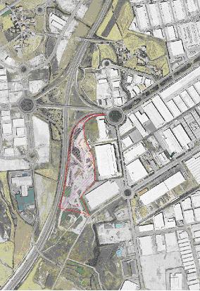Mapa de ubicación del proyecto Mendebaldea