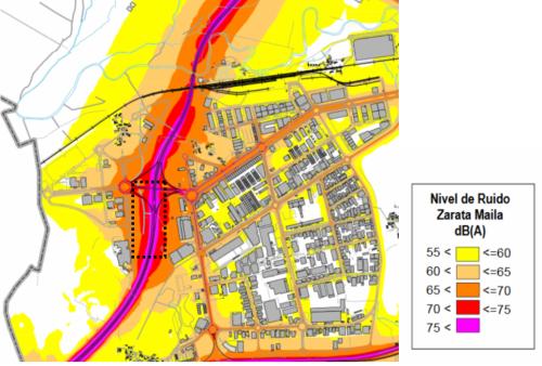 Mapa del ruido del entorno de Mendigurentxo