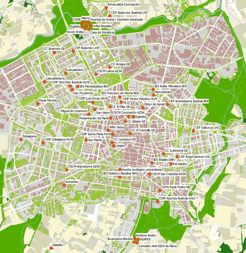 Hiri baratzeen mapa