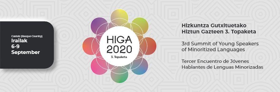Tercer Encuentro de Jóvenes Hablantes de Lenguas Minorizadas, del 6 al 9 de septiembre del 2020 (Gasteiz, País Vasco)