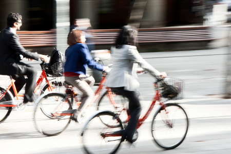 People riding on a bike