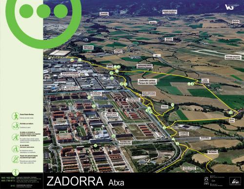 Zadorrako parkearen informazio panela - Atxa