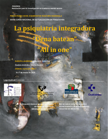 Cartel del XXVIII Curso Nacional de Actualización en Psiquiatría