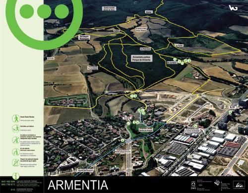 Armentiako parkearen informazio panela - Armentia