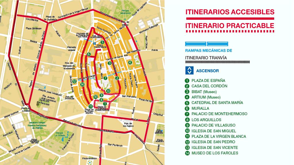 Itinerarios accesibles