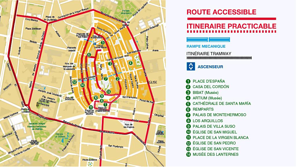 Carte du casque médiéval-Route accesible