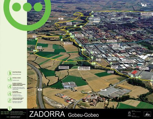 Zadorrako parkearen informazio panela - Gobeo2