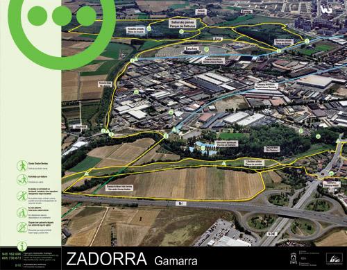 Zadorrako parkearen informazio panela - Gamarra