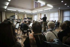 Banda Municipal de Música. Visita de mayores a Musiketxea