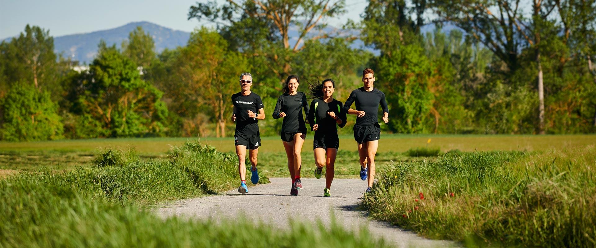 running in green lands