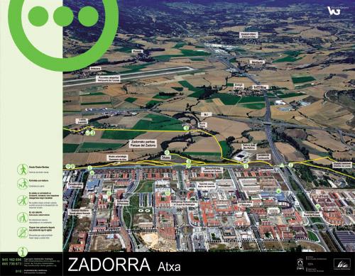 Zadorrako parkearen informazio panela - Atxa2
