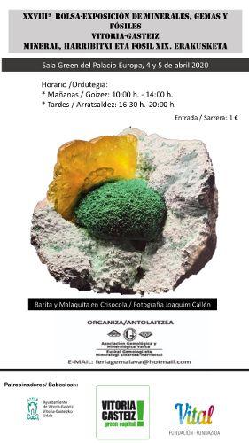 Mineral, Harribitxi eta Fosilen XXVIII. Erakusketaren kartela