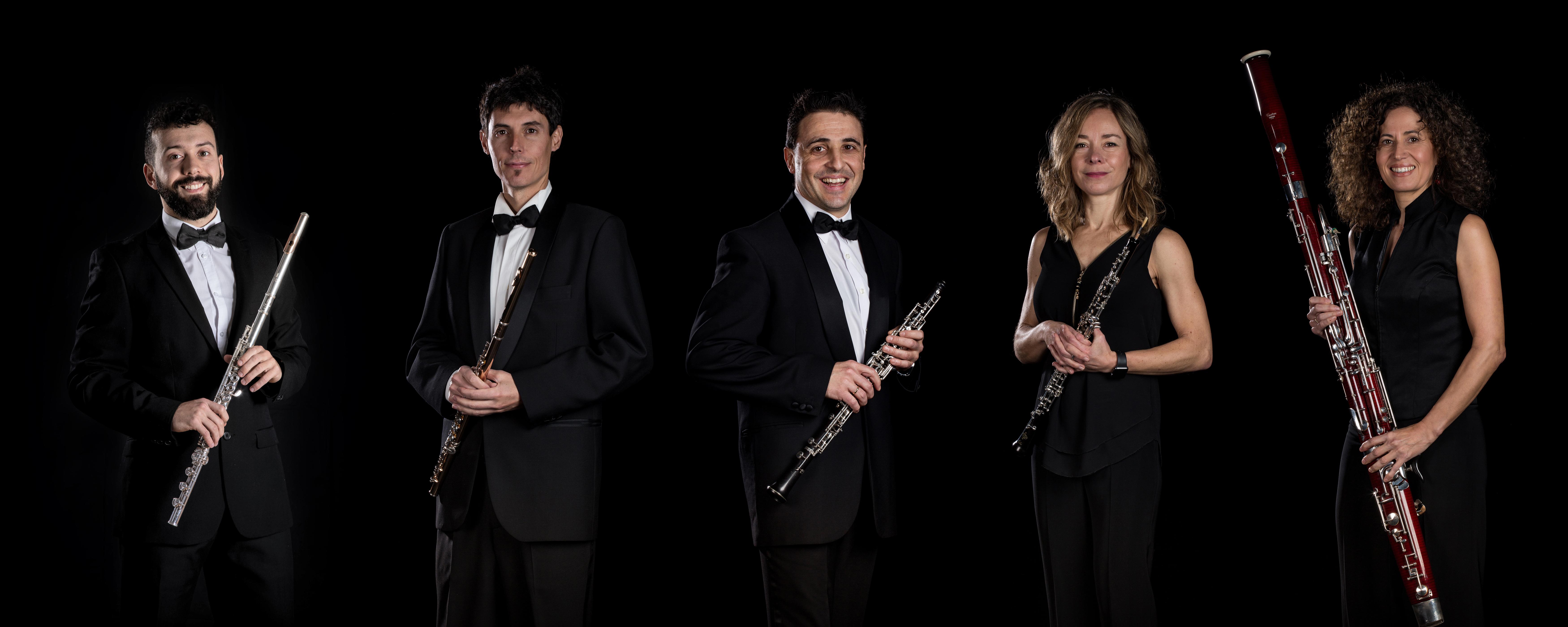 Udal Musika Banda: flautak, oboeak eta fagota.