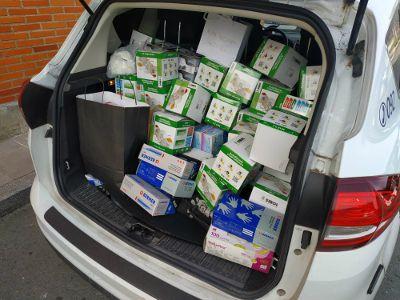 Donaciones de material sanitario
