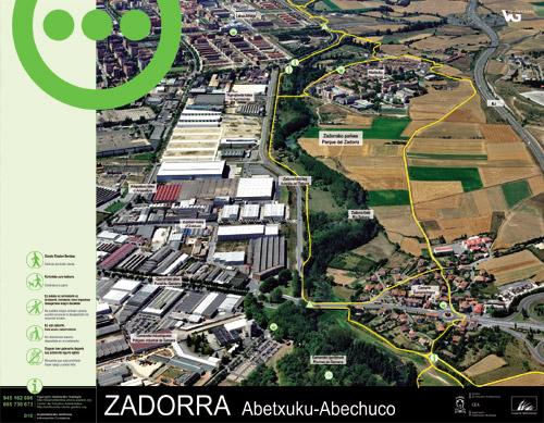 Zadorrako parkearen informazio panela - Abechuco3