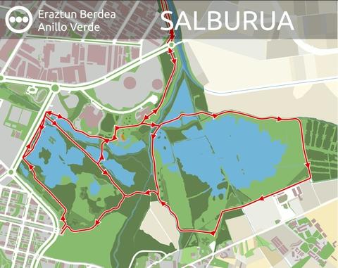 Plano del itinerario de Salburua