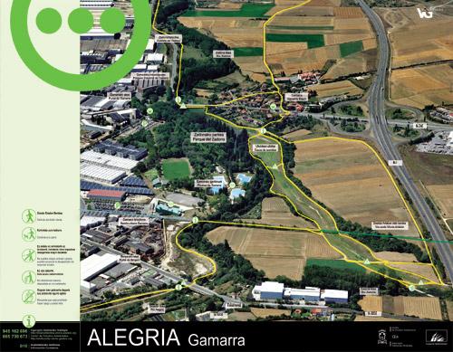 Zadorrako parkearen informazio panela - Alegria Gamarra