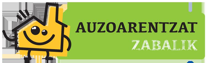 Auzoarentzar Zabalik programaren logotipoa
