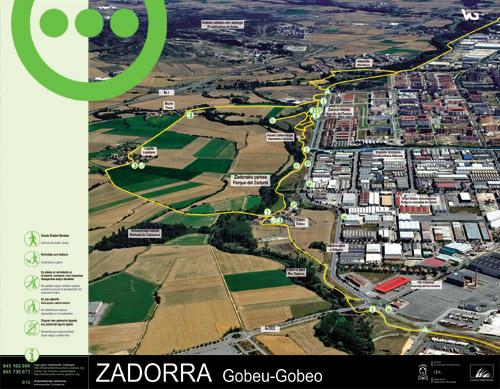 Zadorrako parkearen informazio panela - Gobeo
