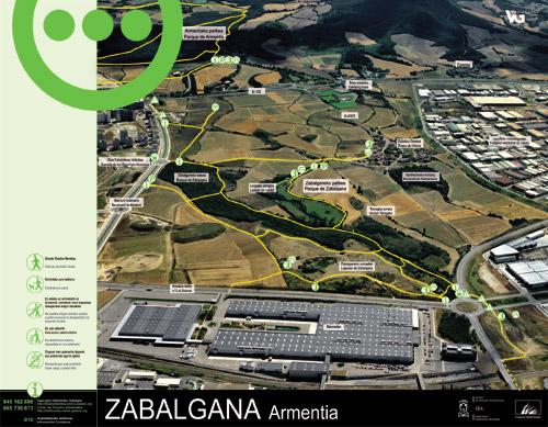 Panel de información parque de Zabalgana - Armentia