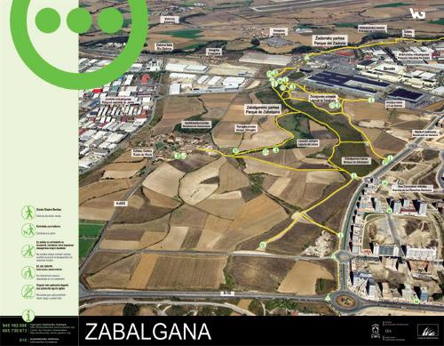 Panel de información parque de Zabalgana - Zabalgana