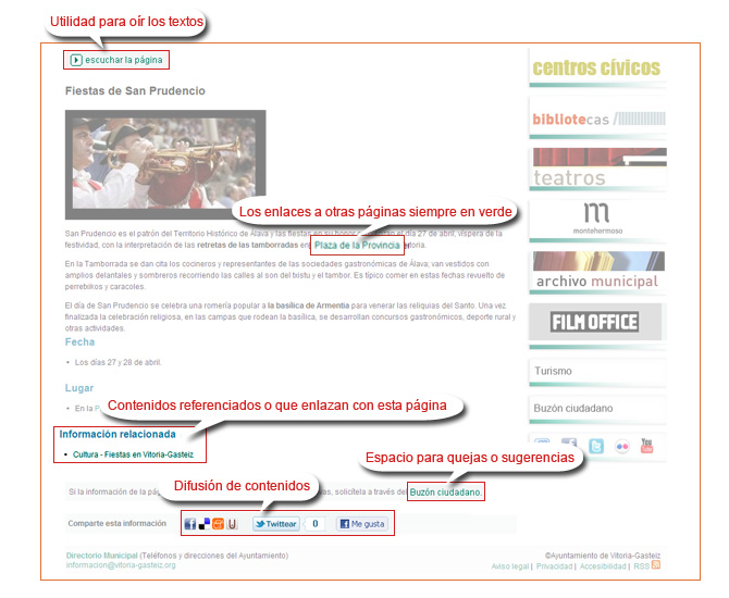 Corps de la page où se trouve l'information de la page correspondante
