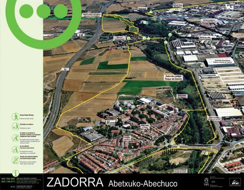 Zadorrako parkearen informazio panela - Abechuco2