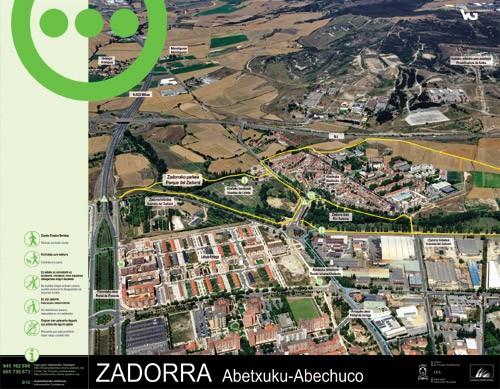 Zadorrako parkearen informazio panela - Abechuco