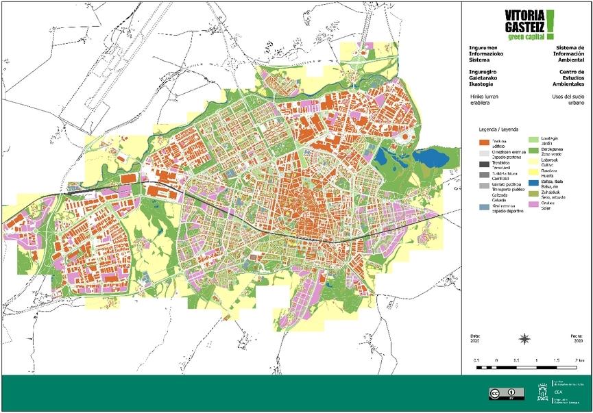 Mapa de usos del suelo urbano 2019