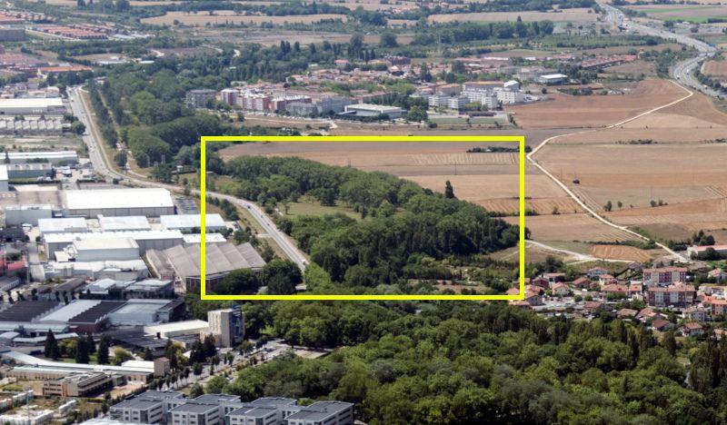 Vista aérea de la zona de obras.