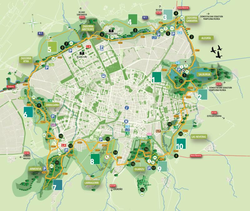 Mapa general de los paseos