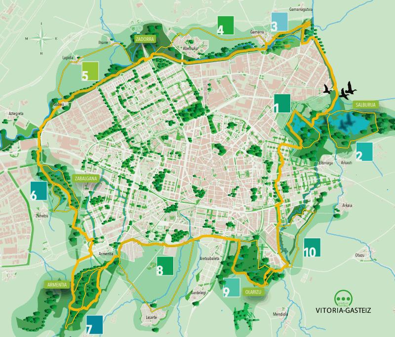 Ibilbideen mapa orokorra