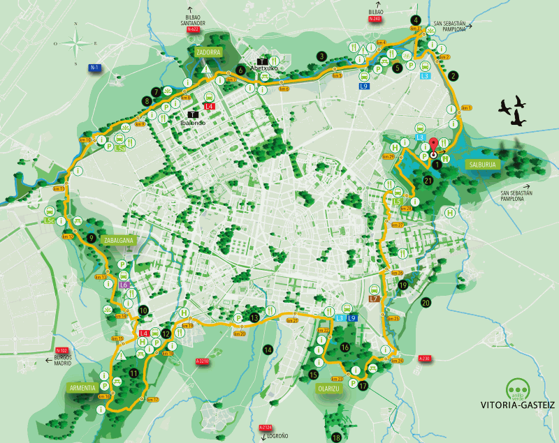 Website of the VitoriaGasteiz City Council Green Belt of Vitoria