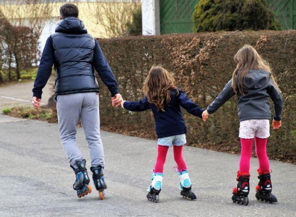 patinaje en familia