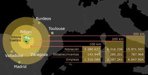 Ciudad y economía - Mapa datos