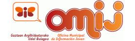 Logotipo de la OMIJ en el que aparece una mariposa