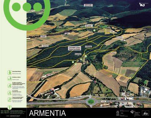 Armentiako parkearen informazio panela - Armentia2