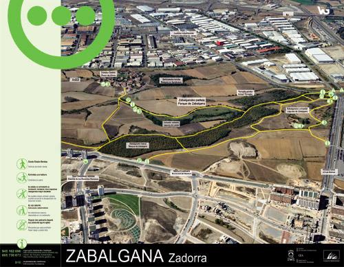 Panel de información parque de Zabalgana - Zadorra