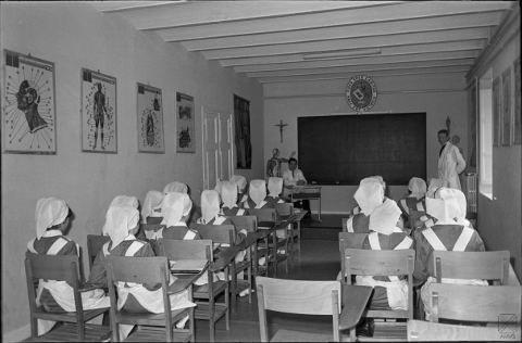 Escuela de Enfermería en el Hospital de Santiago