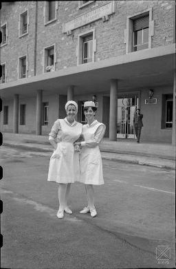 Enfermeras en la Residencia Arana