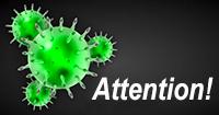 vous voyez une photo d'un virus avec le mot coronavirus