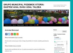 Web PODEMOS Vitoria-Gasteiz