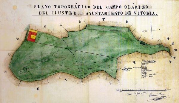 Olarizuko mapa zaharra