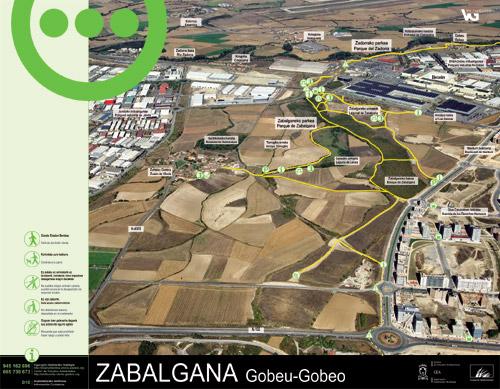 Panel de información parque de Zabalgana - Gobeo