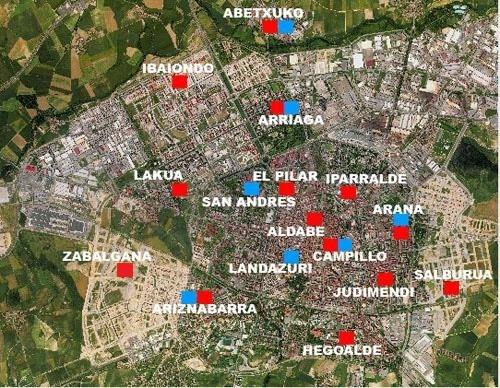Mapa de la red de centros cívicos