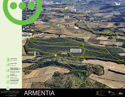 Armentiako parkearen informazio panela - Armentia3