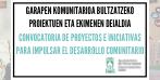 Convocatoria de proyectos comunitarios